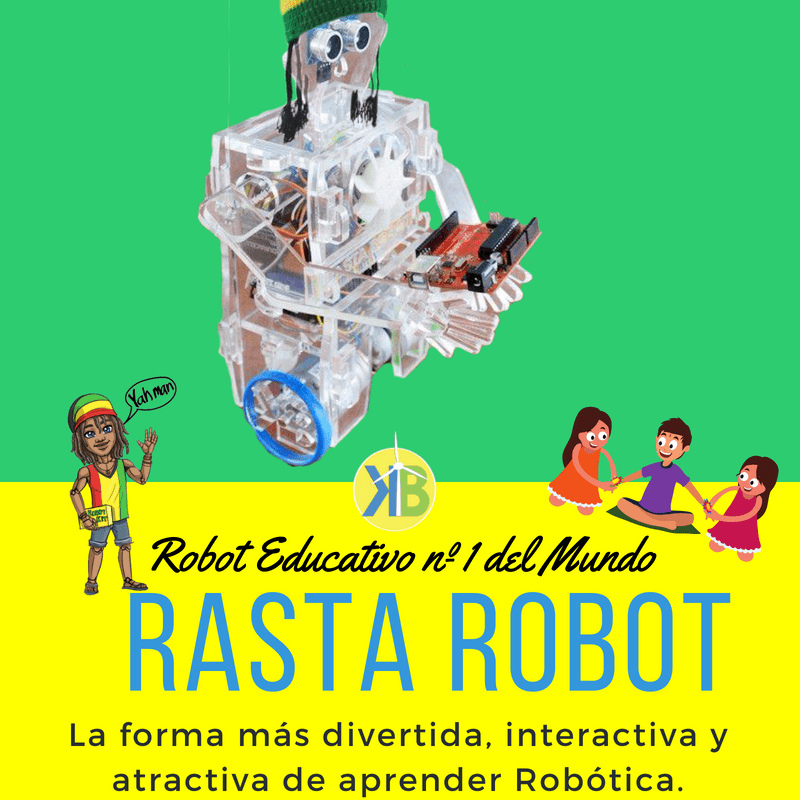 Robot educativo No1 do mundo Rasta Robot A forma máis divertida, interactiva