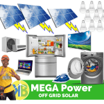 MEGA Power Off Grid Solar Complete kit from KB Group with 24 Panel