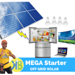 MEGA Starter Off grid solar Complete kit from KB Group