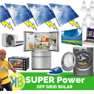 SUPER POWER OFF-GRID SOLAR Kit Lengkap DARI KB GROUP dengan 30 Panel PV