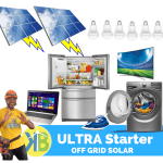Ultra Starter Off grid solar complete kit met 18 paneel van KB Group