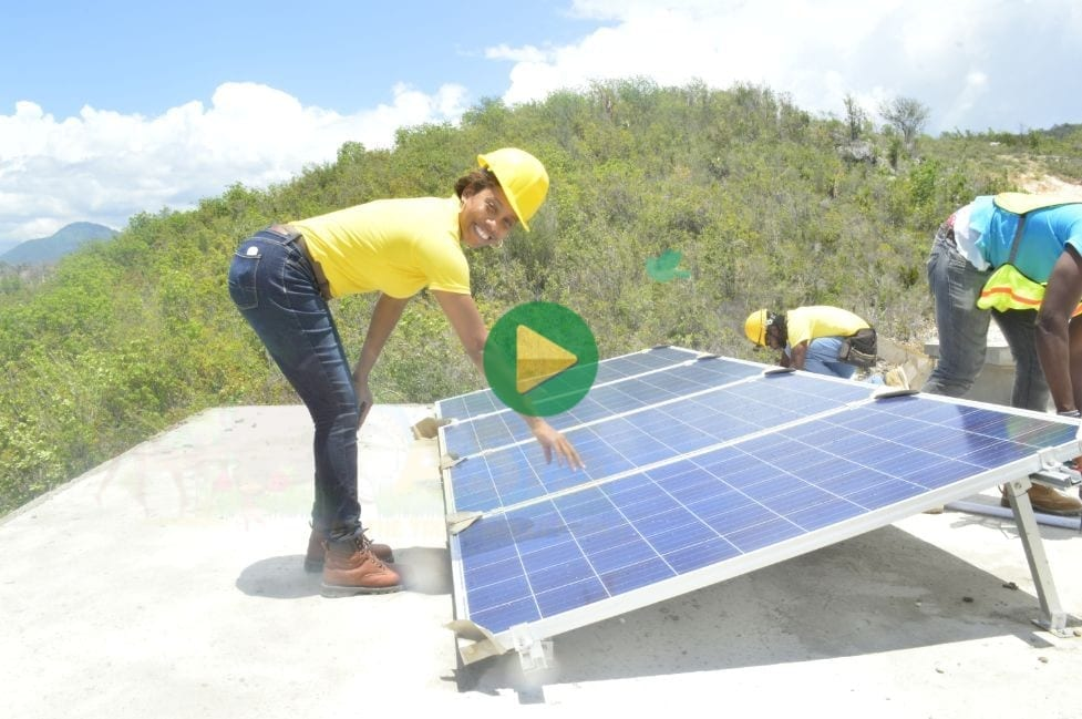 Multibillionaire Sher Trott Bailey on one of her husband's solar project - Solar Installation Training