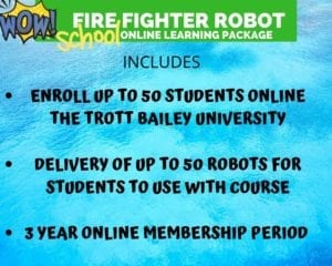 Nchịkọta Fighter Fighter School Booster Robot si na Kimroy Bailey Group na Mahadum Trott Bailey